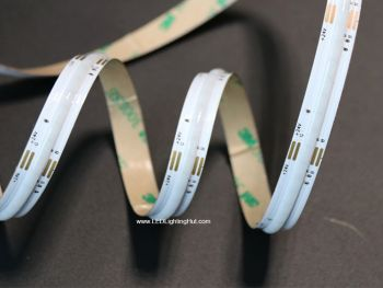 Dot-free RGB Color Changing COB LED Strip, No Visible LEDs, 24V, 5m Reel