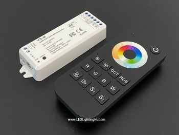 RGB + Dual/Tunable White 5-in-1 RF LED Controller, RT5 Remote & V5-M Receiver