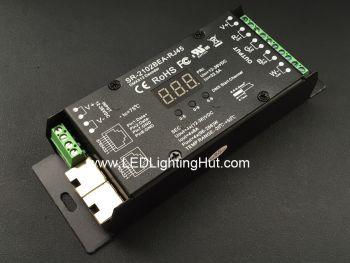 Flicker Free RJ45 4 Channel DMX512 Decoder for RGBW RGBA LED Strip,  8A/CH, 12-36V DC