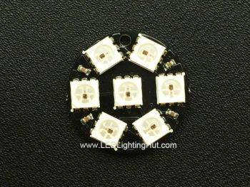 Round 7 WS2812 5050 Digital RGB LED Board, 23mm Diameter