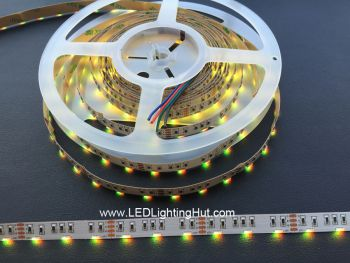 Side Emitting RGB LED Strip Light, 60 LED/m, 5m/roll, 12VDC