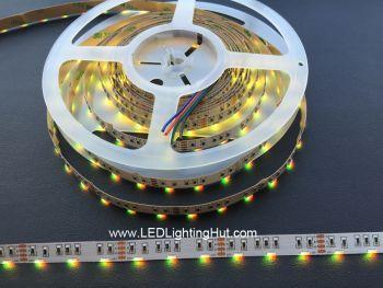 Side Emitting 020 RGB Color Changing LED Strip, 60/m, 12V, 5m Reel