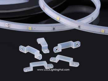 Silicone Clips for Waterproof Flexible LED Strips, Pack of 10