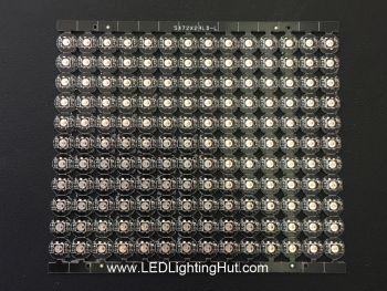 SK6812 3535 RGB Mini Digital Circle PCB with Heatsink, 8mm Diameter, DC5V, Sheet of 154