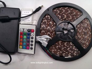 SMD5050 RGB LED Strip + LED Infrared Remote Controller + Power Supply  Kit
