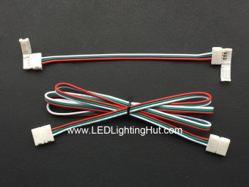 Snap 3 Wire 10mm Wide LED Strip Solderless Jumper Connector, 15cm/100cm Wire Length Available