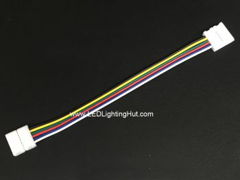 Snap 6 Wire 12mm Wide Solderless Jumper Connector for RGB + Dual White Strip