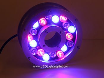 18W Underwater LED Fountain Light Ring, W/R/G/B/RGB Optional