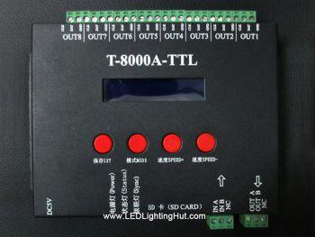 T-8000A-TTL 8 Ports LED SD Card Controller for Digital Addressable RGB Strip