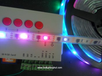 TLS3001  Digital Addressable RGB LED Strip, 16.4Ft, DC5V,  IP67 Waterproof