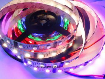 UCS2912 Digital Addressable 4 In 1 RGBW Flexible LED Strip, 60LEDs/m, 5VDC