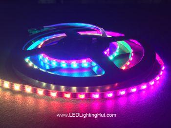 Ultra Slim 120/m WS2812C 2020 Digital RGB LED Strip, 4mm Wide, 5V, 1m