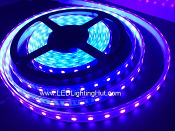 Ultraviolet 395-400 nm LED Light Strip, 60 SMD5050 LEDs/M, 5M/reel, DC12V Input