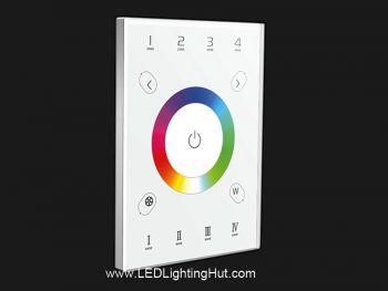 UX8 4 Zones RGBW DMX In-Wall Touch Panel, DMX512 / WIFI / RF Control