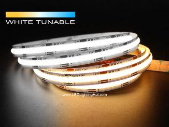 White Adjustable Dot-free COB LED Strip, 640/m, No Visible LEDs, 24V, 5m Reel