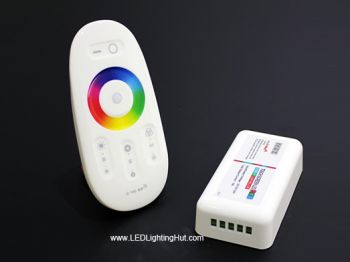 WiFi Compatible RGBW LED Controller with RF Touch Remote, 12-24V, 24A