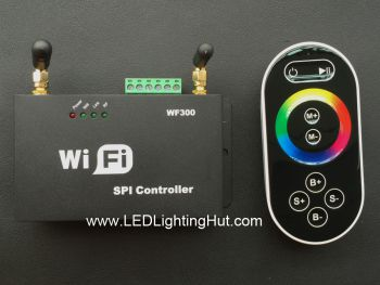 Wifi SPI Controller w/ RF Touch Remote for Digital LED Strip, Support Smartphone or Tablet WiFi Control