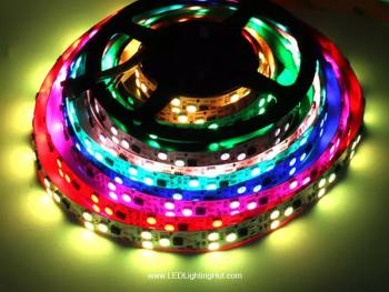 WS2811 Digital RGB LED Strip,  90/m,  12V, 5m Reel