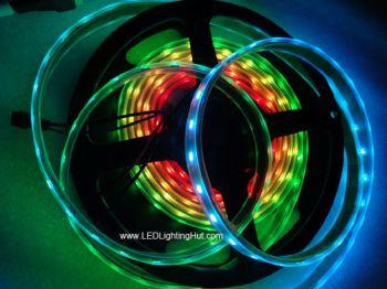 WS2812B Chip-built-in Digital Intelligent LED Strips, 5V DC, 60 LED/meter