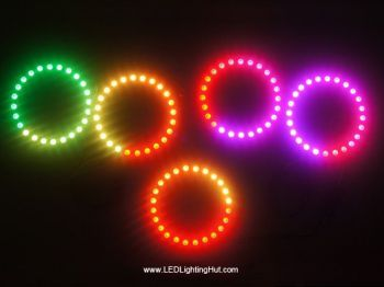 WS2812B Digital Addressable 5050 RGB Pixel Ring, 8LED/16LED/24LED Available