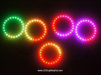 WS2812B Digital Addressable 5050 RGB Pixel Ring, 8LED/16LED/24LED Available